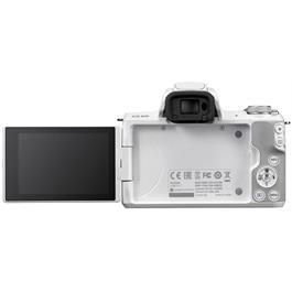 Canon EOS M50 Mirrorless Camera Body - White Thumbnail Image 1